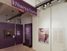 The Nueva York exhibit explores the roots of Latino influence on the city.