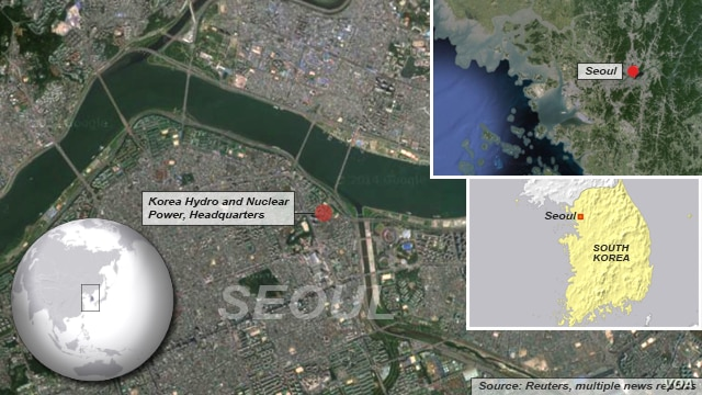 Seoul, South Korea, site of nuclear operations headquarters, site of recent cyber attack