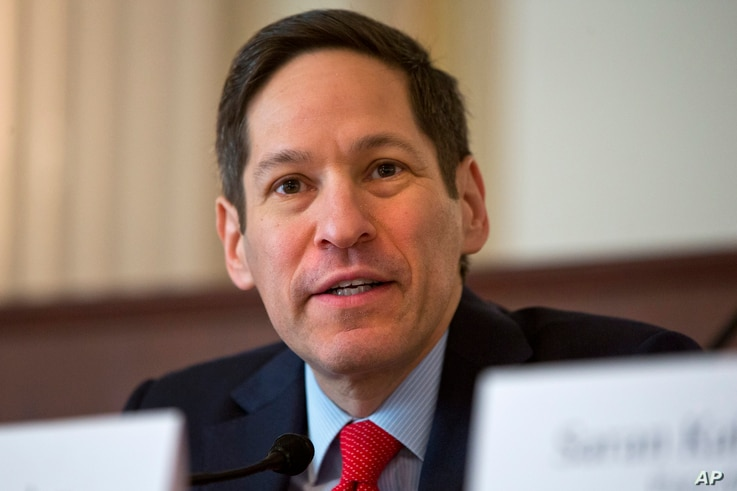 Centers for Disease Control and Prevention Director Tom Frieden speaks during a discussion: The Ebola Crisis in West Africa: An Update on Progress, Challenges and the Road to Recovery on Ebola in West Africa, Jan. 13, 2015, on Capitol Hill in Washing...