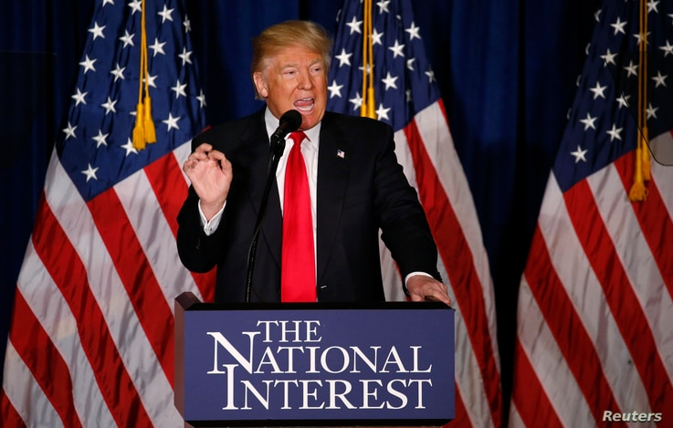 Donald Trump delivers a foreign policy speech