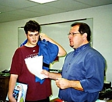 For his 9th grade same-sex English class, teacher Michael Bair selects reading material that deals with the male experience.