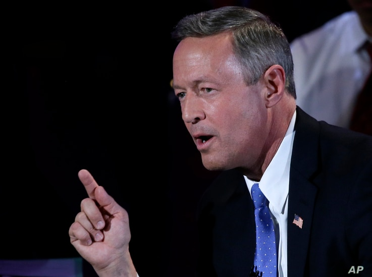 Democratic presidential candidate, former Maryland Gov. Martin O'Malley makes a point during the Brown & Black Forum, Monday, Jan. 11, 2016, in Des Moines, Iowa. (AP Photo/Charlie Neibergall)