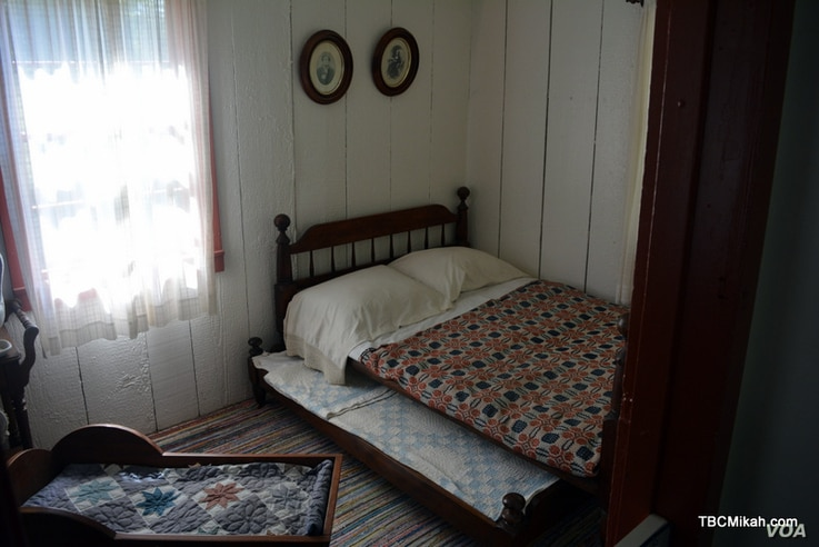 A young Herbert Clark Hoover shared this bedroom with his parents and siblings.