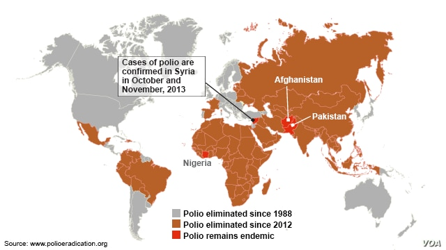New cases of polio in Syria