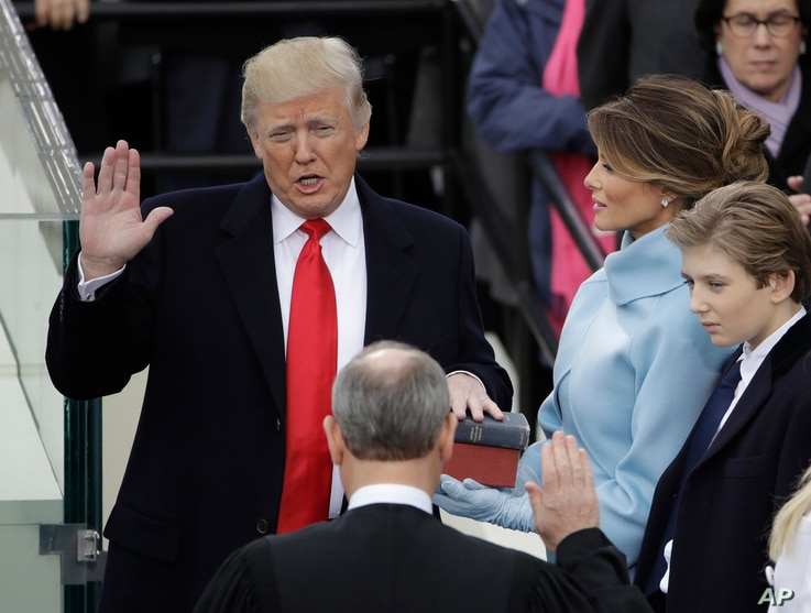 Trump first day