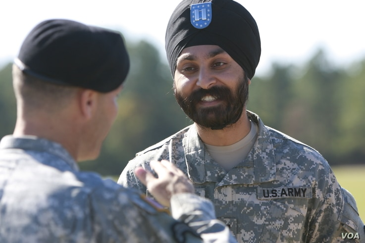 For Major Kamal Kalsi, it took 50 congressional signatures and 15,000 petitioners in a letter to the defense secretary to obtain a religious accommodation in 2009. (Photo courtesy of Sikh Coalition)