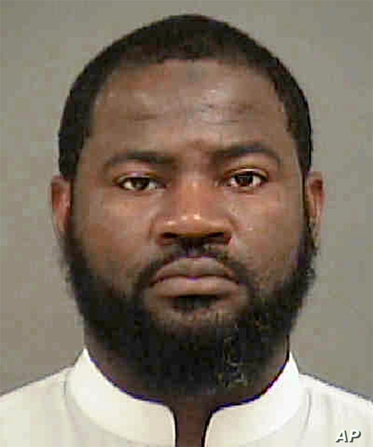 This undated photo provided by the Mecklenburg County Sheriff's Office in Charlotte, N.C., shows Erick Jamal Hendricks. Accused of trying to recruit people to join the Islamic State group, Hendricks was arrested, Aug. 4, 2016, in Charlotte, N.C.