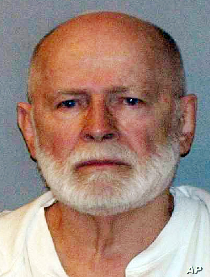 """FILE - This June 23, 2011, booking photo provided by the U.S. Marshals Service shows James """"Whitey"""" Bulger. The former mobster was found dead in a West Virginia prison Oct. 30, 2018, at age 89."""