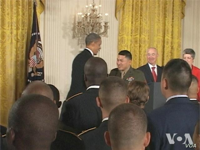 Foreign Born US Service Members Get Citizenship at White House