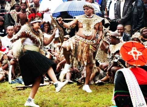 Analysts say support for the ruling ANC is increasing in South Africa's KwaZulu-Natal region, chiefly as a result of President Jacob Zuma's strong Zulu traditional beliefs… Here, Zuma dances at his 2010 wedding to his third wife
