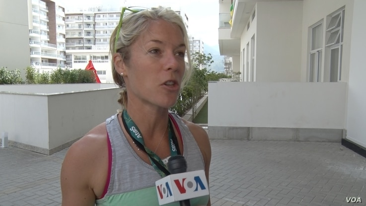 Alison Morrow is a  journalist for a U.S. TV station who is covering her first Olympic Games in Rio de Janeiro. (P. Brewer/VOA)