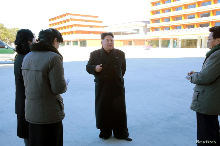 North Korean leader Kim Jong Un visits the remodeled December 6 Children's Camp in Kangwon Province in this undated photo released by North Korea's Korean Central News Agency in Pyongyang, Dec. 7, 2016.