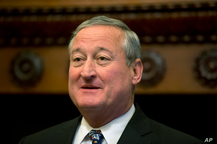 Mayor Jim Kenney speaks during a news conference at City Hall in Philadelphia, June 16, 2016. He says he expects the city's new soda tax to raise $91 million a year for schools, libraries and pre-kindergarten programs.