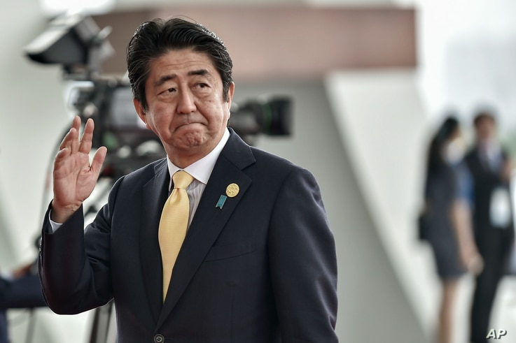 FILE - Japan's Prime Minister Shinzo Abe.