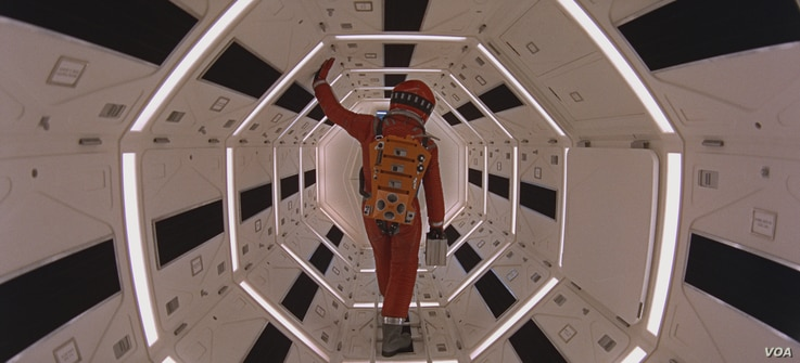 "KEIR DULLEA as Dr. David Bowman in the Stanley Kubrick sci-fi epic ""2001: A SPACE ODYSSEY,"" Warner Bros. Pictures is releasing an ""unrestored"" 70mm print in select U.S. theatres in celebration of the film's 50th anniversary."