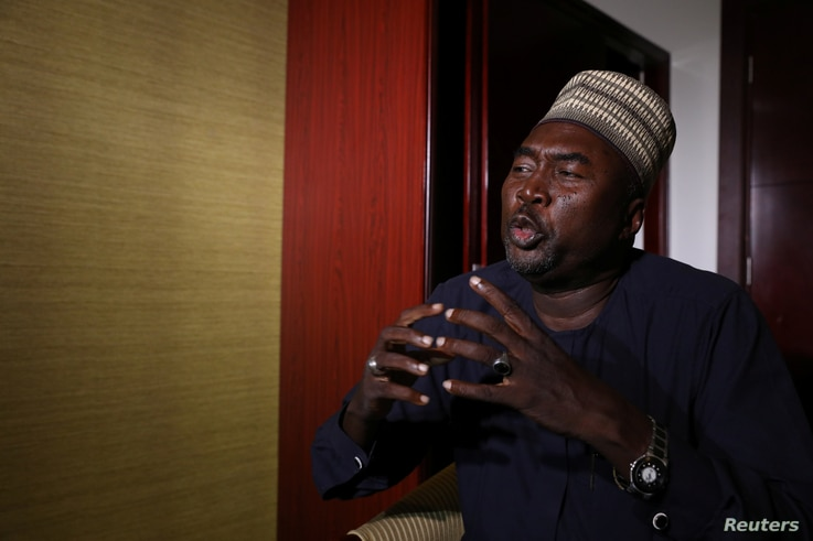 Lawyer Zannah Mustapha, mediator for Chibok girls, speaks during an interview with Reuters in Abuja, Nigeria, May 8, 2017.