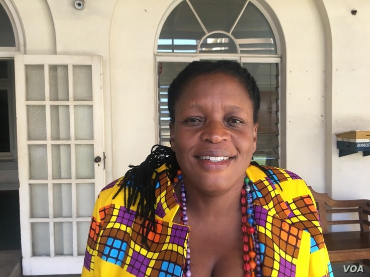 Priscilla Misihairabwi, shown in July 2017, is an opposition member of parliament who had campaigned against the constitutional amendment. She says the move reverses what Zimbabweans voted for in 2013.