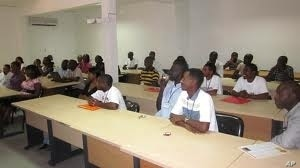 Students attend class at the  African Institute for Mathematical Sciences in Mbour, Senegal.