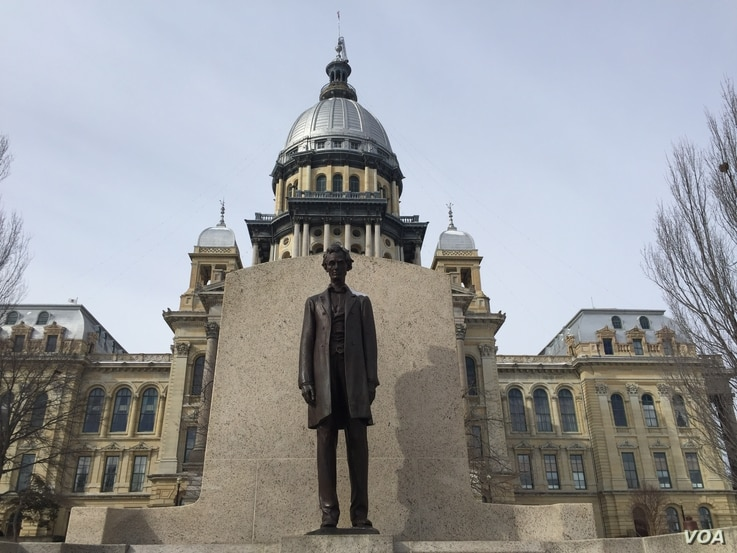 The Illinois State Capitol, where President Barack Obama spoke to state lawmakers on Wednesday. (K. Farabaugh/VOA)