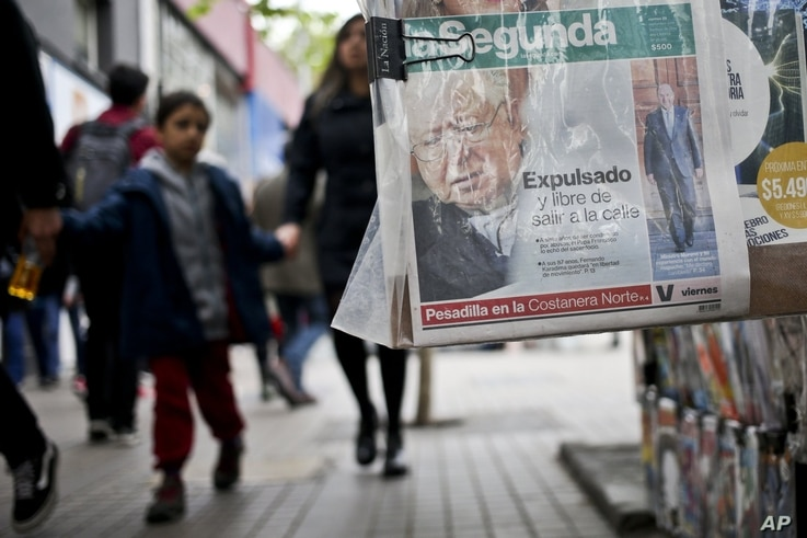 A newspaper reports on the expulsion of Fernando Karadima
