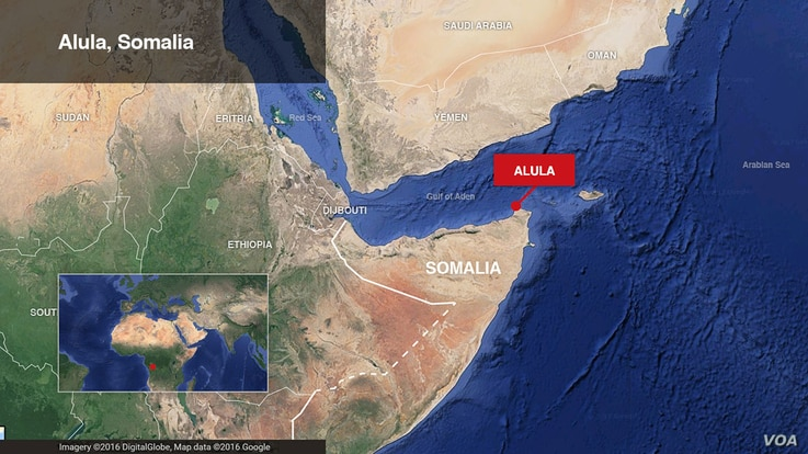 Map of Alula, Somalia