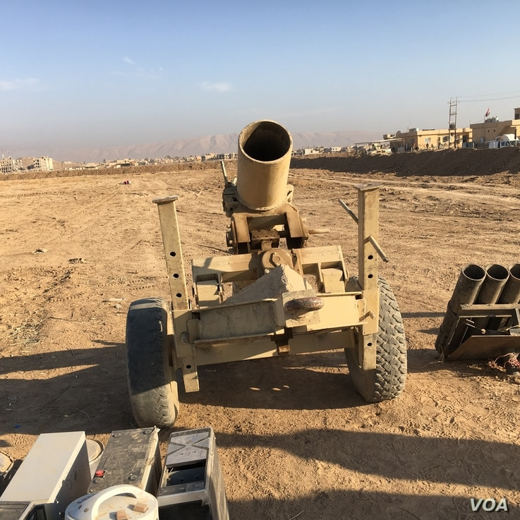 Homemade weapons made by ISIS and Iraq's army sized them during ongoing Mosul Operation.