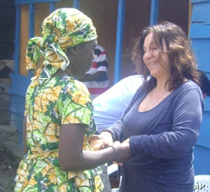 In Goma FXB founder Albina du Boisrouvray, meets with a woman benefiting from aid program