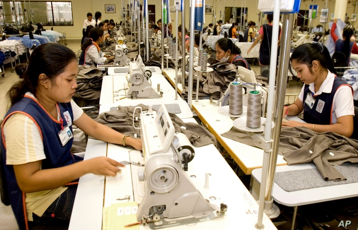 Cambodian garment workers