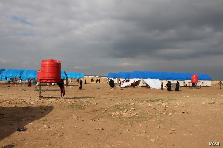 In recent days, thousands of people have arrived at al-Hol camp, growing the population to more than 70,000, far more than aid organizations or the military expected, pictured March 4, 2019.