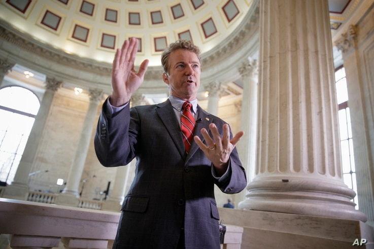 Sen. Rand Paul, R-Ky., was one of two Senators that did not agree with Montenegro's membership in NATO.