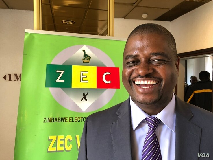 Qhubani Moyo of the Zimbabwe Electoral Commission in Harare says his organization has met all reasonable and practical demands by the opposition to ensure free and fair polls. June 24, 2018 (S. Mhofu/VOA)