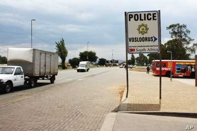 The entrance to the Vosloorus police station, scene of lesbian protests against local officers who are alleged to be anti-gay
