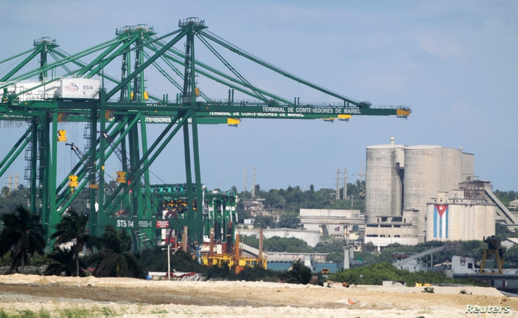 FILE - The container terminal of the Mariel special development zone is pictured in Cuba, Sept. 22, 2013.