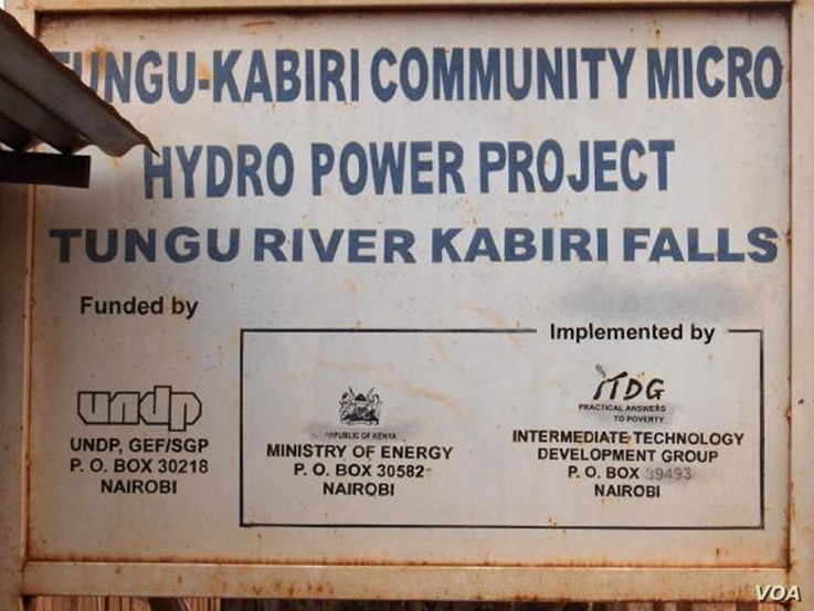 The government of Kenya intends following the example of the micro-hydro project at Mbuiru in the country's central highlands (photo: Practical Action)