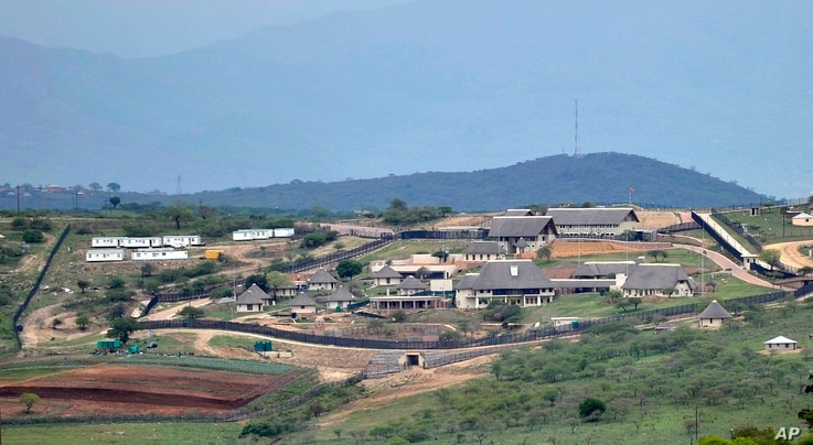 FILE - This photoshows the private compound homestead of South African President Jacob Zuma in Nkandla, South Africa.