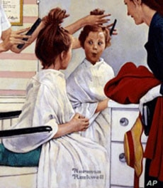 Norman Rockwell, First Trip to the Beauty Shop, 1972, oil on canvas
