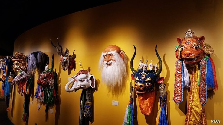 In 1997, Ganna set out to make all 108 masks from Mongolian Buddhist tradition. He finished them ten years later although each mask requires considerable study and meditation to make.