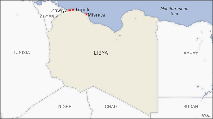 Tripoli, Zawiya and Misrata