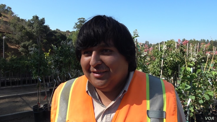 LA Conservation Corps member Ronaldo Martinez, 20, hopes to make a career in the field of urban conservation.