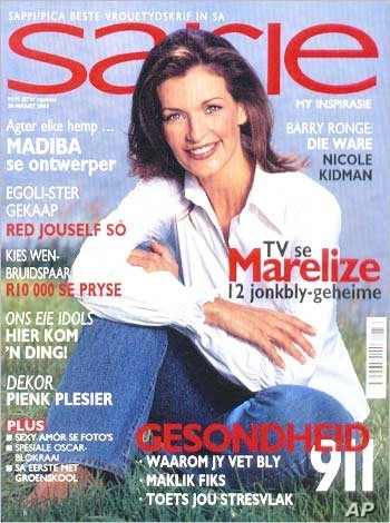 Buirski's closeness to Mandela has made her somewhat of a celebrity in her own right … In this photo, she graces the cover of a South African magazine