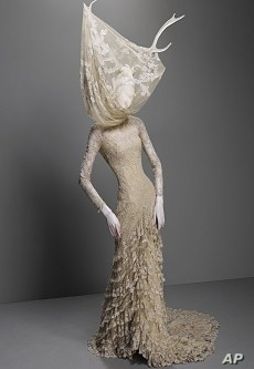 "A dress from McQueen's ""Widows of Culloden"" 2006-2007 collection"