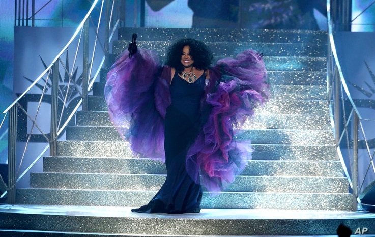 Diana Ross performs at the American Music Awards at the Microsoft Theater on Sunday, Nov. 19, 2017, in Los Angeles.