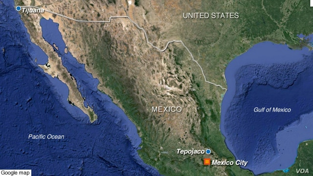 Nuclear waste stolen from town of Tepojaco, north of Mexico City.