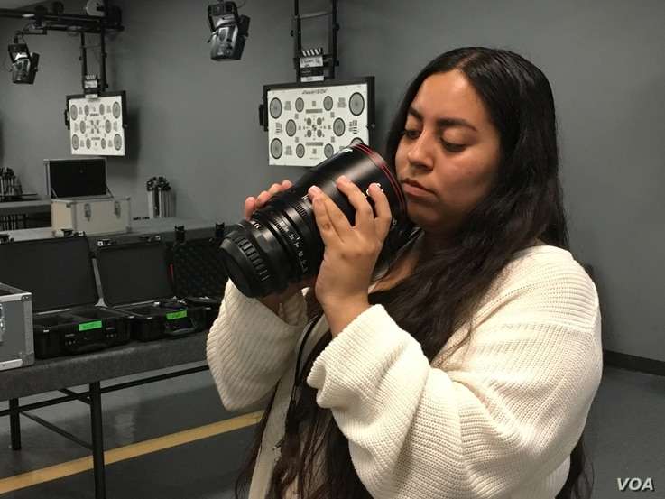 Claudia Juarez just finished her first year of college in Los Angeles. She is interested in producing and directing. In the Academy Gold  program, she worked at Panavision, a provider of camera and production equipment.
