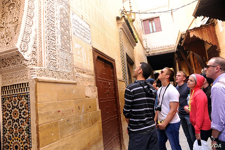 FILE - DLI students of Modern Standard Arabic tour the ancient town of Fes, Morocco. About 30 percent of DLI students spend four weeks immersed in the culture of the languages they are studying at the institute. (Photo by Natela Cutter)