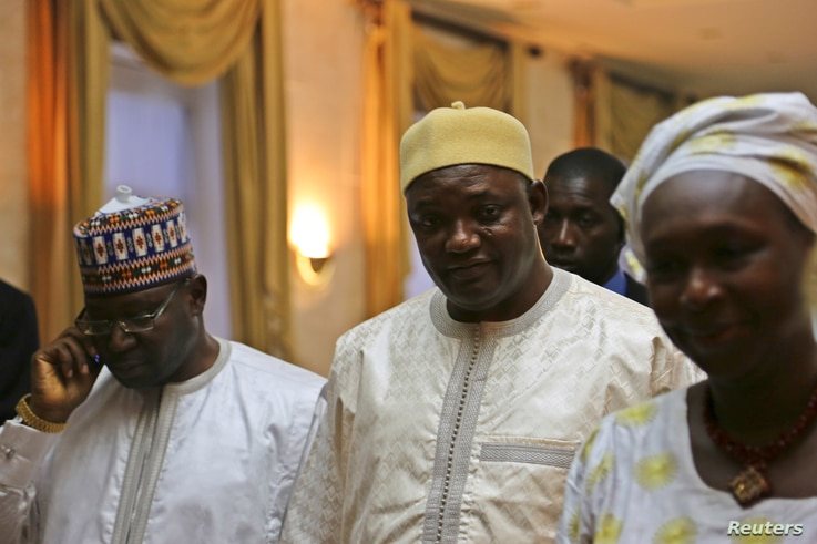 Gambia's President Adama Barrow is seen in Dakar, Senegal, Jan. 20, 2017.