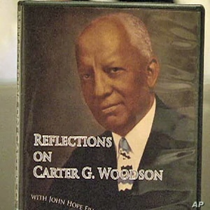 A poster of Dr. Carter G. Woodson, of the Association for the Study of African American Life and History