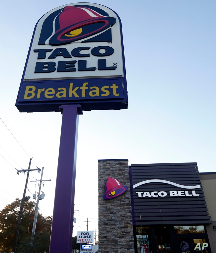 FILE - A Taco Bell restaurant is pictured in Metairie, La. Robert L. McKay, who designed the first Taco Bell restaurant and with founder Glenn Bell turned it into a fast-food empire, died last week. He was 86.