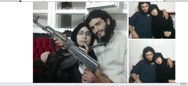 Turkish police released these photos of Afra Shaar, the Syrian woman who is on trial, accused of being an IS recruit, with her late husband Faysal Selimoglu.