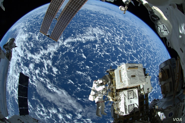 On Oct. 7, NASA astronaut Reid Wiseman (pictured here) and European Space Agency astronaut Alexander Gerst completed the first of three spacewalks for the Expedition 41 crew aboard the International Space Station. (NASA/ESA/Alexander Gerst)